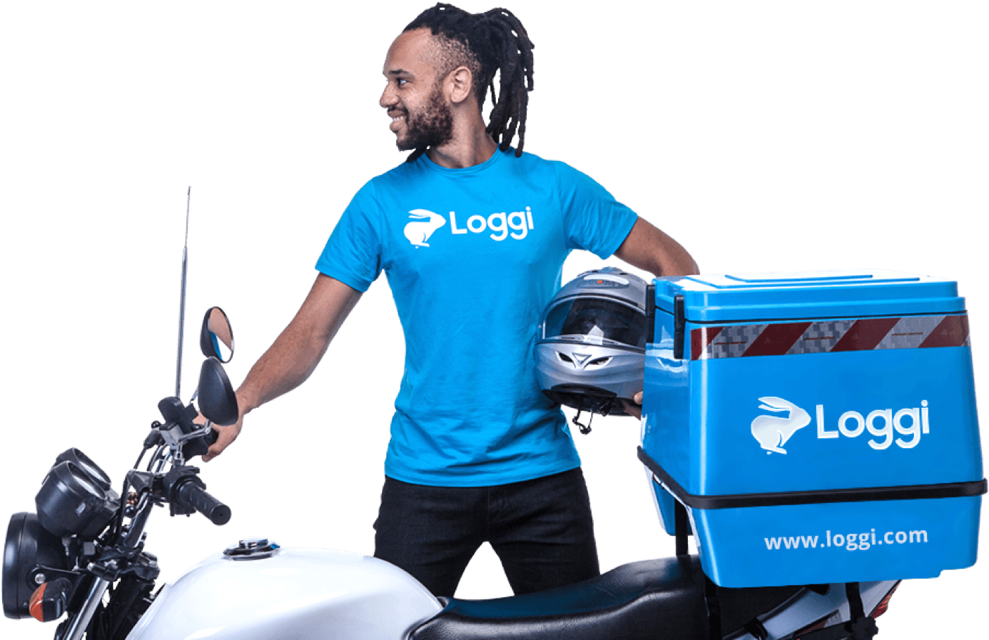 Seja um motofretista Loggi